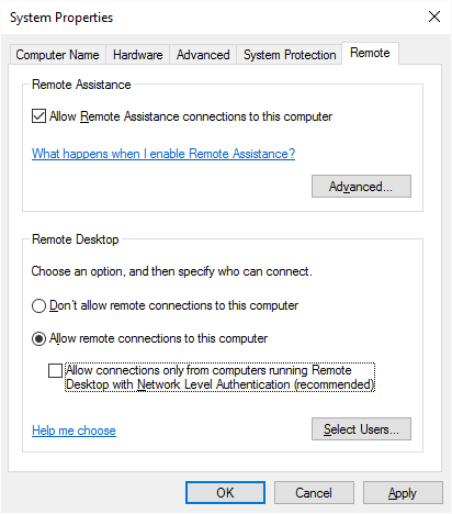 Win10 Enable RDP for Azure AD Joined computer